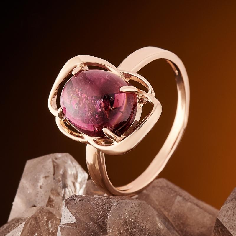 Кольцо турмалин розовый (рубеллит)  (золото 585 пр.) размер 16,5
