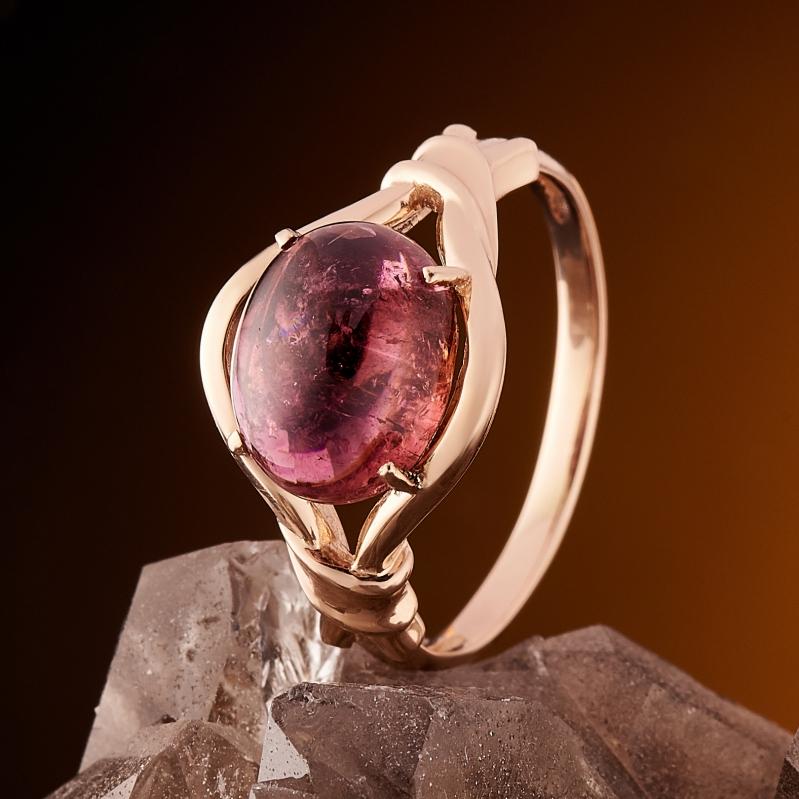 Кольцо турмалин розовый (рубеллит)  (золото 585 пр.) размер 17,5