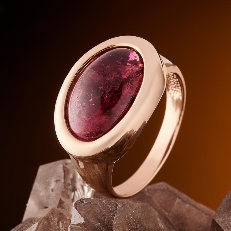 Кольцо турмалин розовый (рубеллит)  (золото 585 пр.) размер 17