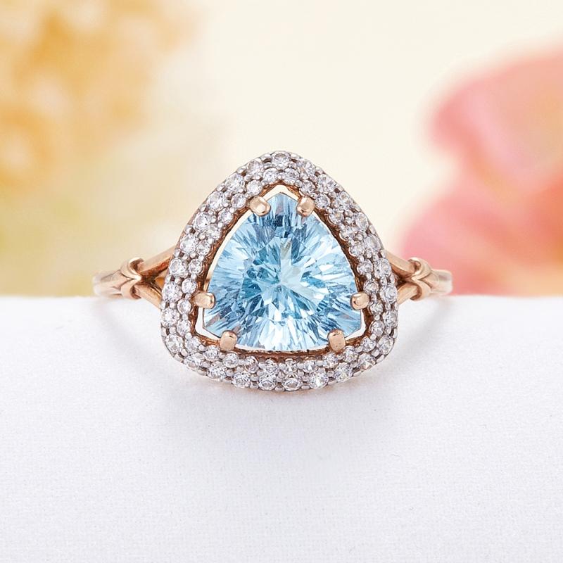 Кольцо топаз голубой огранка (серебро 925 пр., позолота) размер 19,5 кольцо топаз голубой огранка серебро 925 пр позолота размер 17