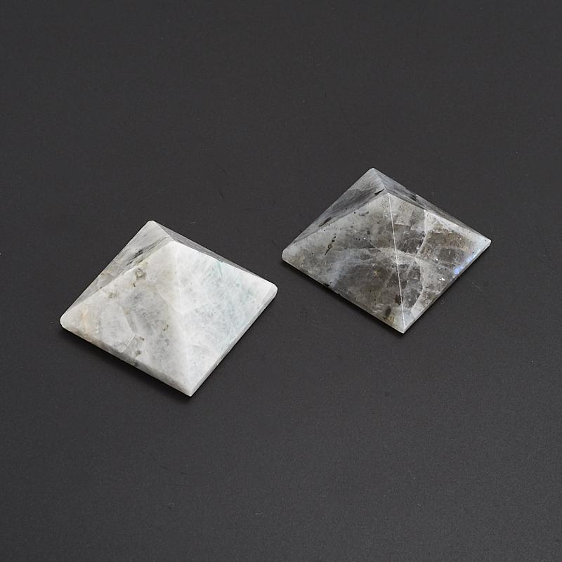 Пирамида лунный камень  2,5 см пирамида шунгит лечебный 2 5 3 см