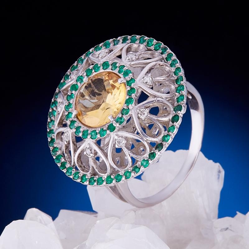 Кольцо цитрин (серебро 925 пр., золото 585 пр.) размер 19,5 кольцо цитрин серебро 925 пр золото 585 пр размер 19 5