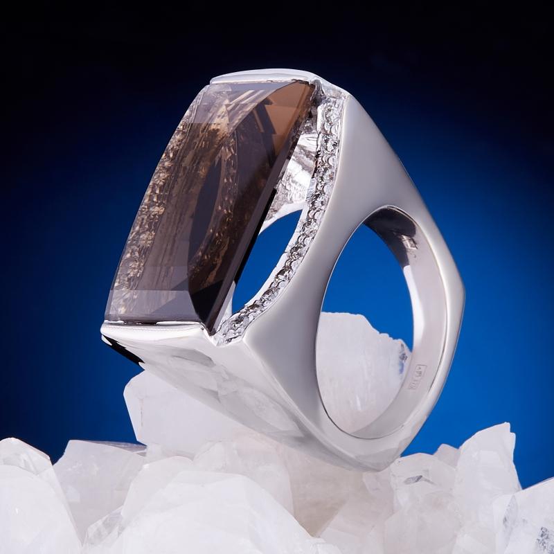 Кольцо раухтопаз огранка (золото 375 пр.) размер 17