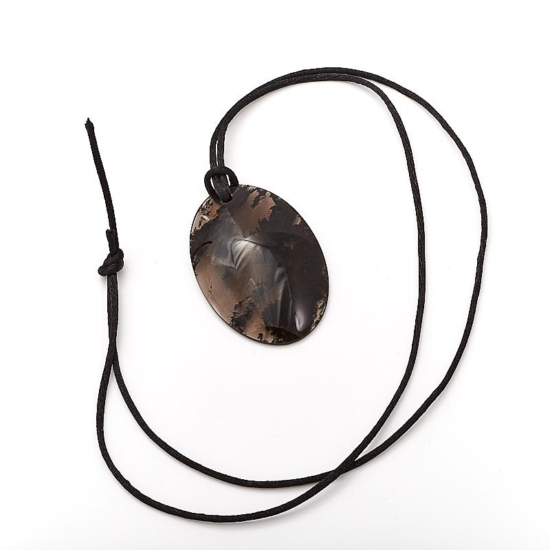 Кулон обсидиан черный  6 см