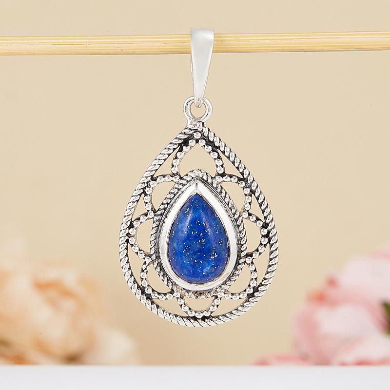 Кулон лазурит  (серебро 925 пр.) кольцо лазурит серебро 925 пр размер 20