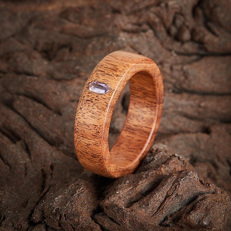 Кольцо аметист огранка (дерево) размер 17,5