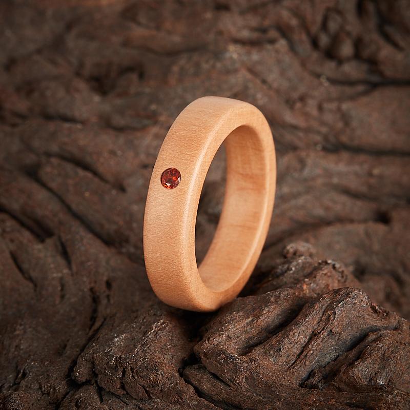 Кольцо гранат альмандин огранка (дерево) размер 16,5
