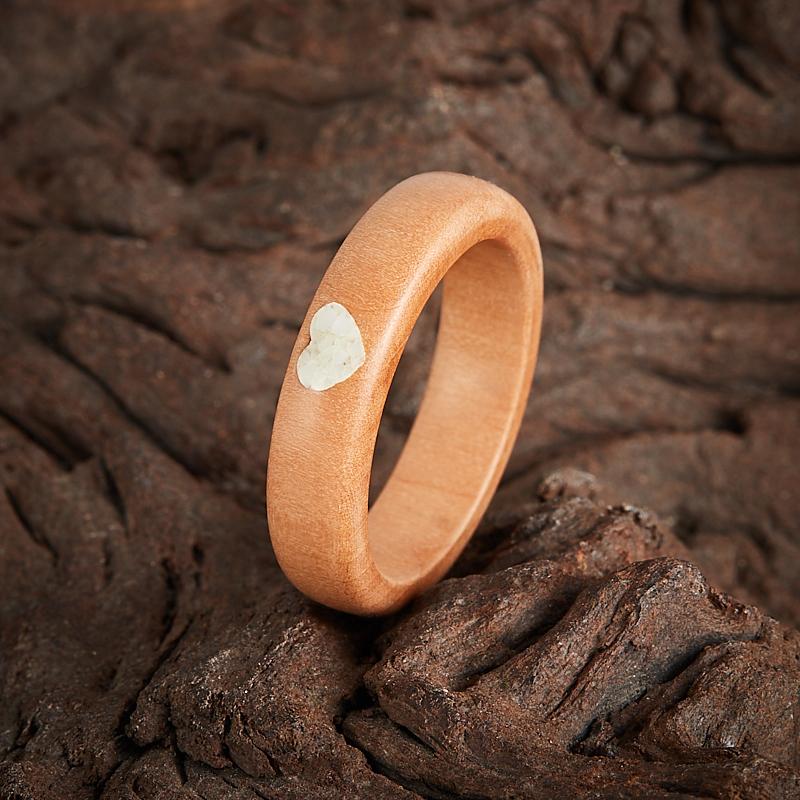 Кольцо кахолонг  (дерево) размер 18
