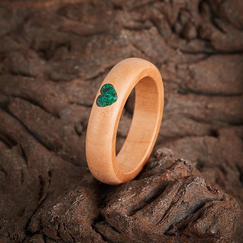 Кольцо малахит  (дерево) размер 16,5