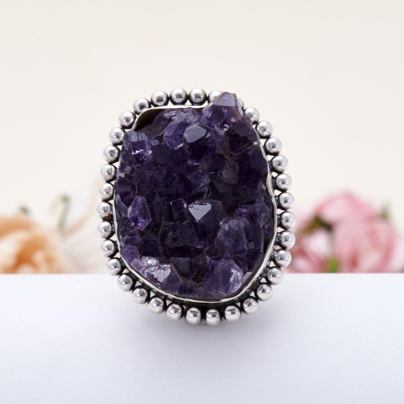 Кольцо аметист  (серебро 925 пр.) размер 18 кольцо аметист серебро 925 пр размер 19 5