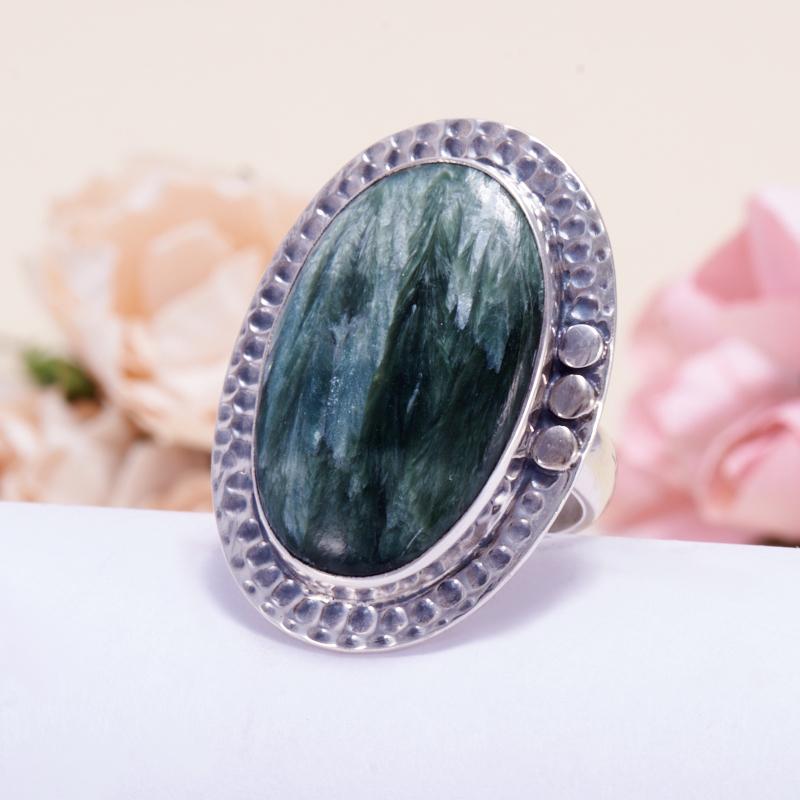 Кольцо клинохлор (серафинит)  (серебро 925 пр.) размер 18,5 кольцо авантюрин зеленый серебро 925 пр размер 18