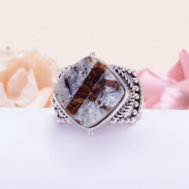 Кольцо астрофиллит  (серебро 925 пр.) размер 18 от Mineralmarket