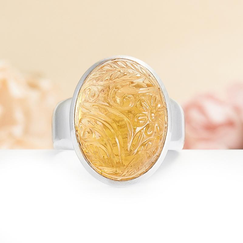 Кольцо цитрин  (серебро 925 пр.) размер 20 кольцо лазурит серебро 925 пр размер 20