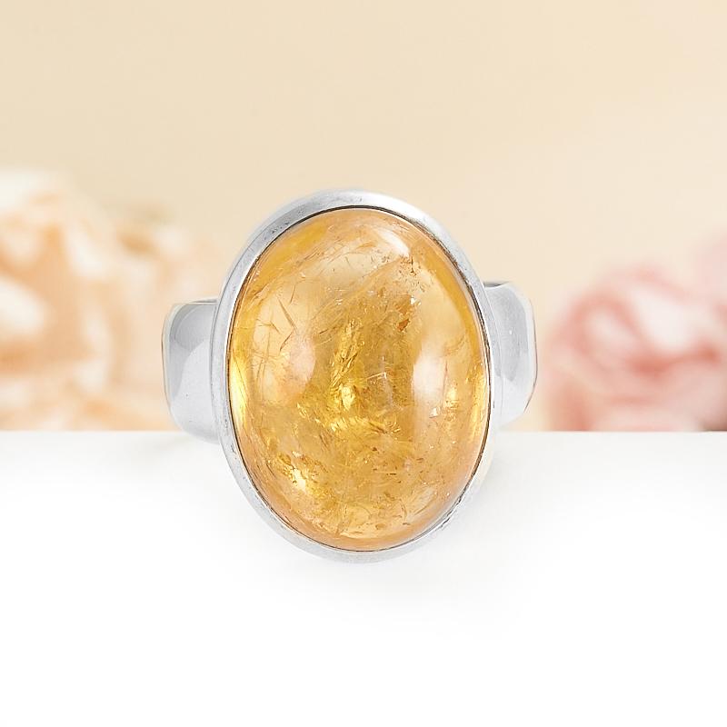 Кольцо цитрин  (серебро 925 пр.) размер 19