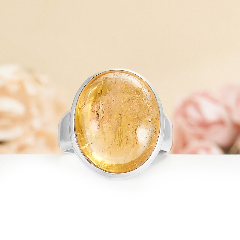 Кольцо цитрин  (серебро 925 пр.) размер 20