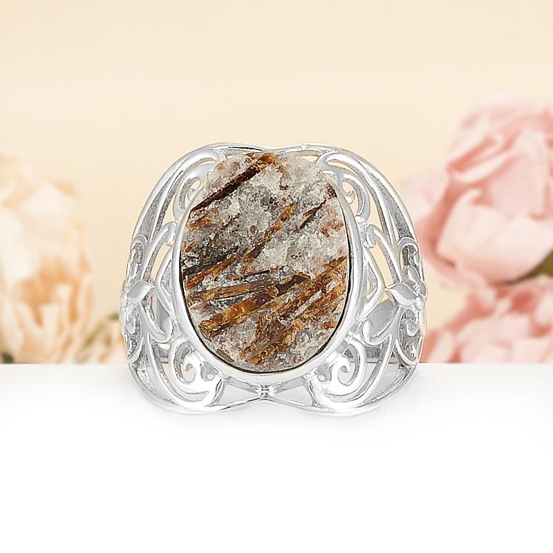 Кольцо астрофиллит  (серебро 925 пр.) размер 19 от Mineralmarket