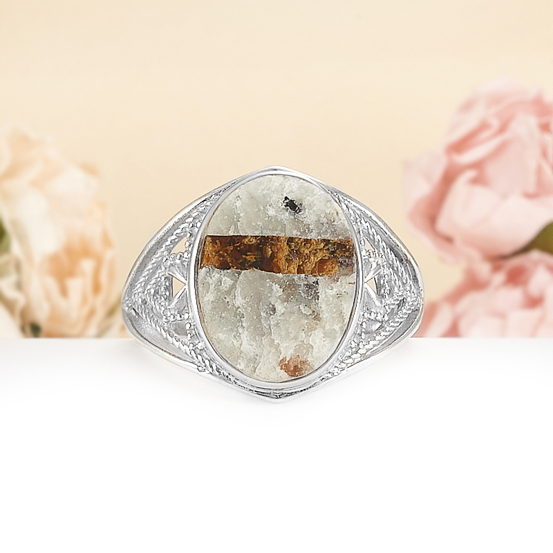 Кольцо астрофиллит  (серебро 925 пр.) размер 20 от Mineralmarket