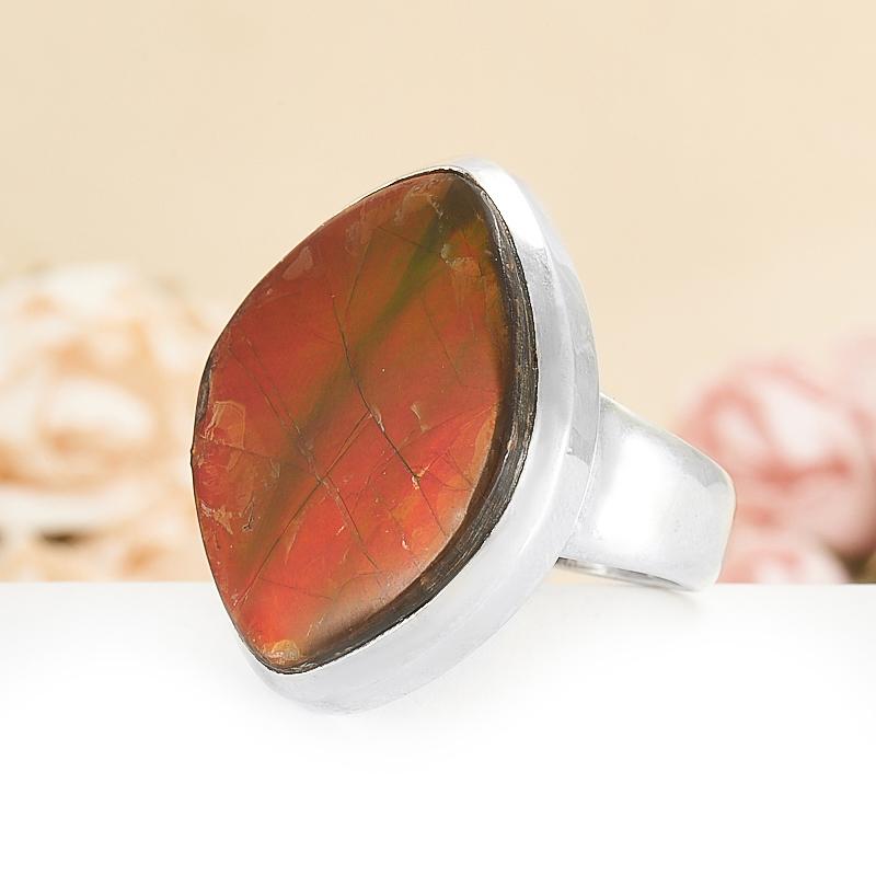 Кольцо аммолит (дублет) Канада (серебро 925 пр.) размер 20