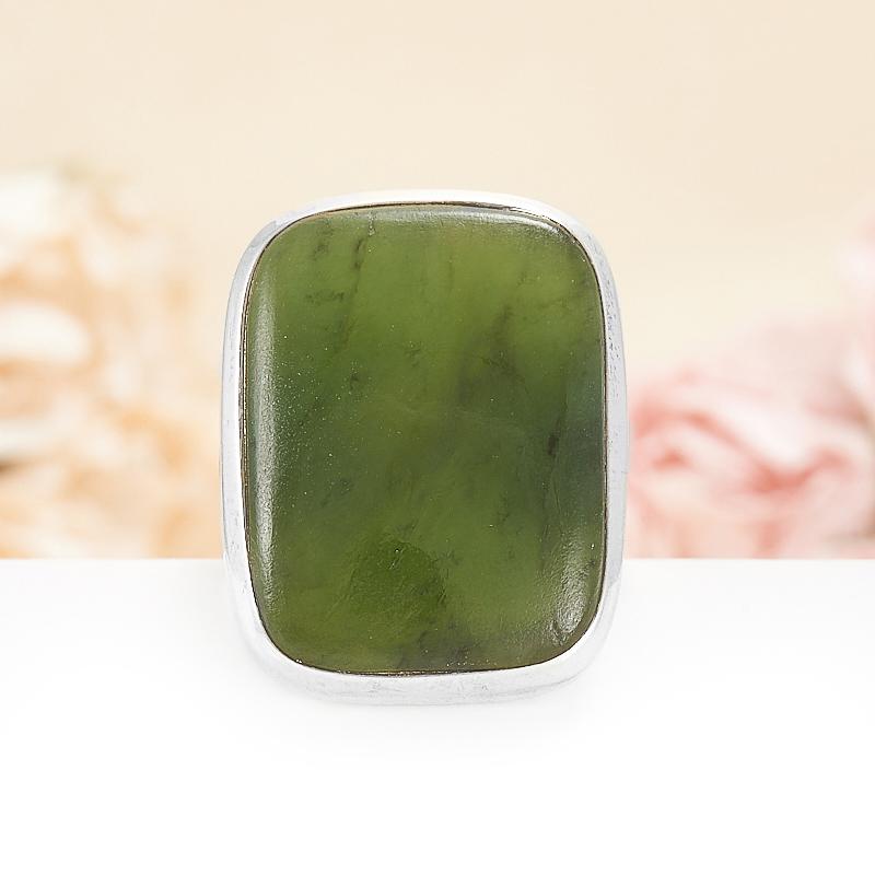Кольцо нефрит зеленый  (серебро 925 пр.) размер 19,5 кольцо авантюрин зеленый серебро 925 пр размер 18
