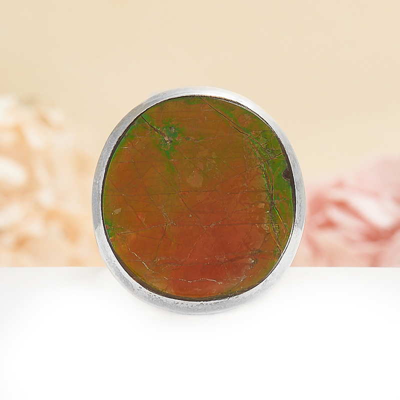 Кольцо аммолит (дублет)  (серебро 925 пр.) размер 18 кольцо авантюрин зеленый серебро 925 пр размер 18