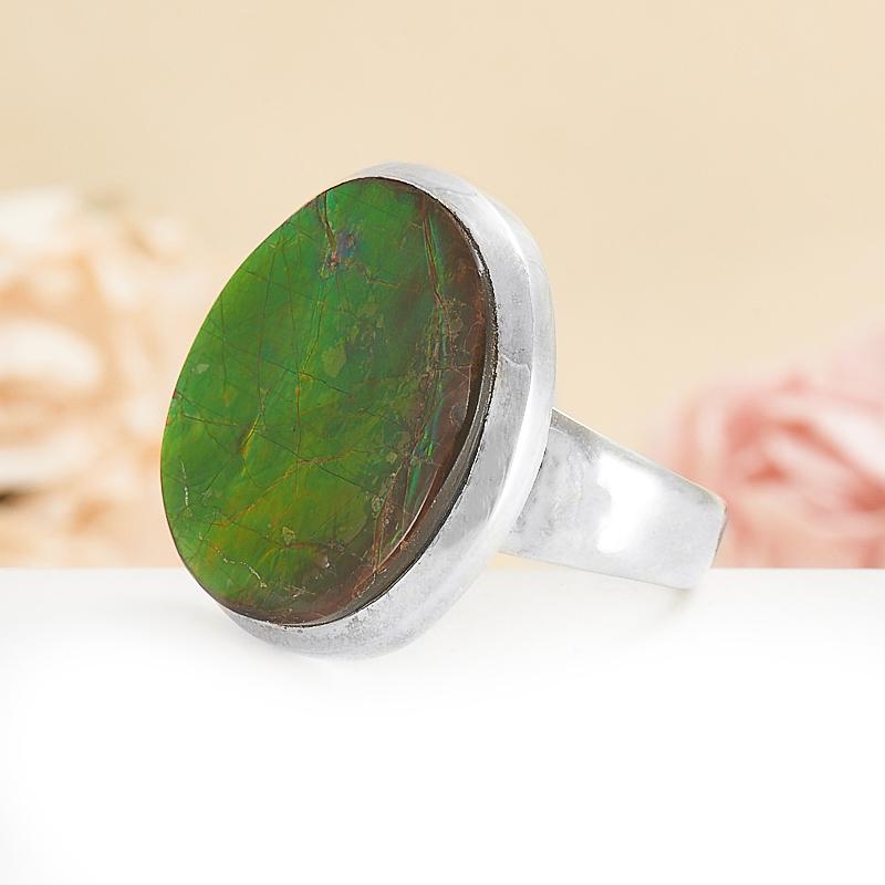 Кольцо аммолит (дублет) Канада (серебро 925 пр.) размер 18