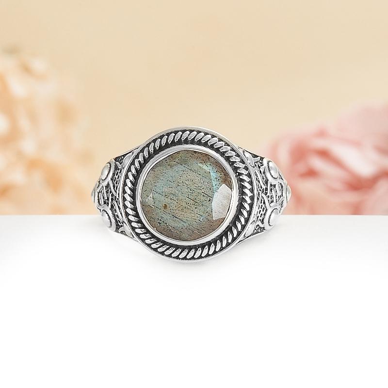 Кольцо лабрадор  огранка (серебро 925 пр.) размер 18 кольцо авантюрин зеленый серебро 925 пр размер 18