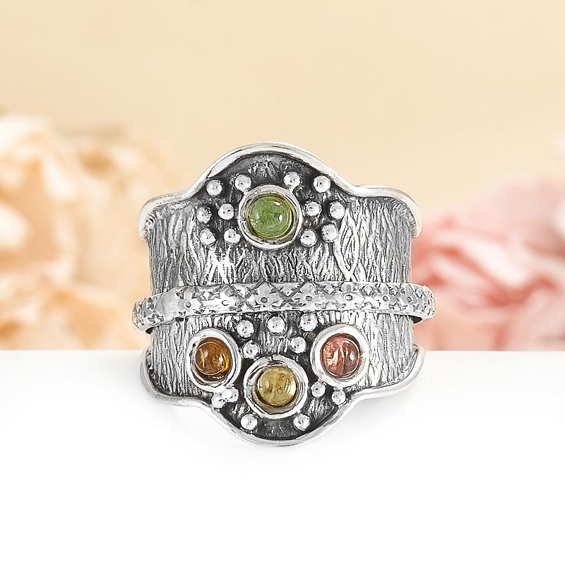 Кольцо турмалин  (серебро 925 пр.) размер 19 кольцо авантюрин зеленый серебро 925 пр размер 18