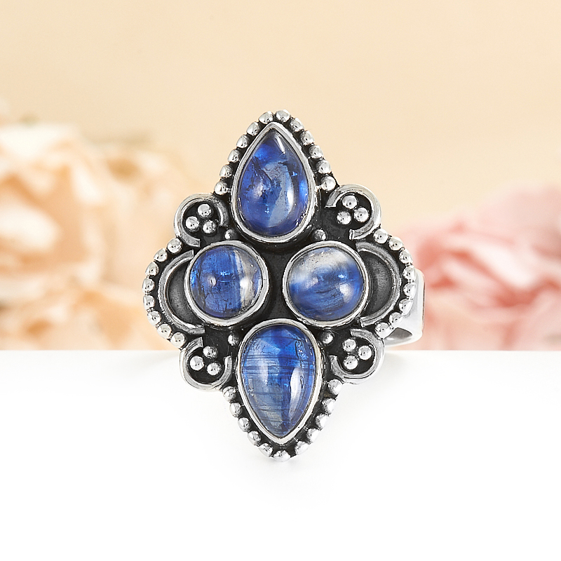 Кольцо кианит синий  (серебро 925 пр.) размер 20 кольцо лазурит серебро 925 пр размер 20