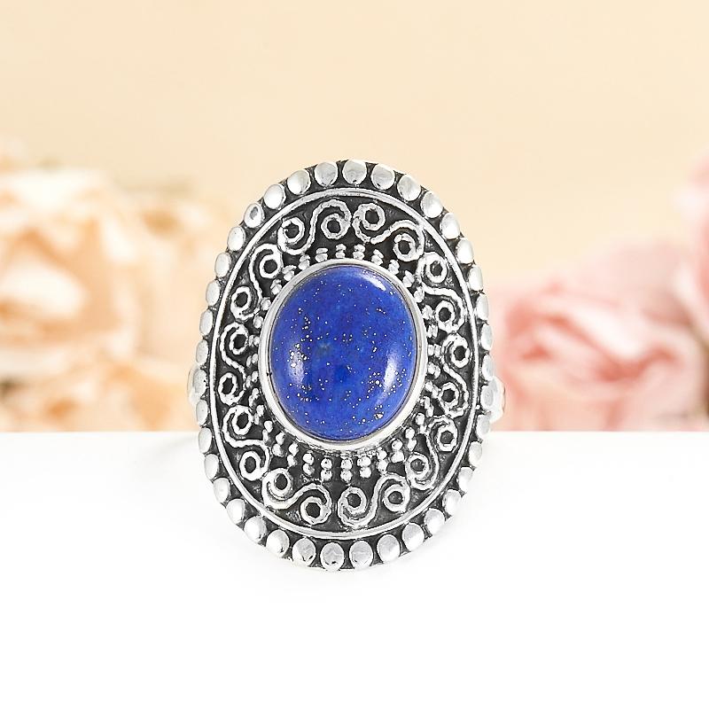 Кольцо лазурит  (серебро 925 пр.) размер 20