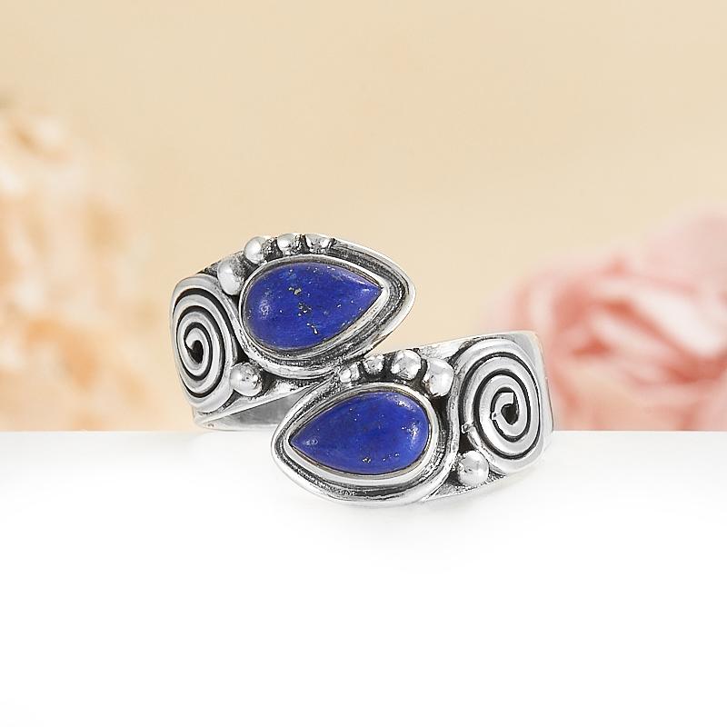 Кольцо лазурит  (серебро 925 пр.) размер 18,5