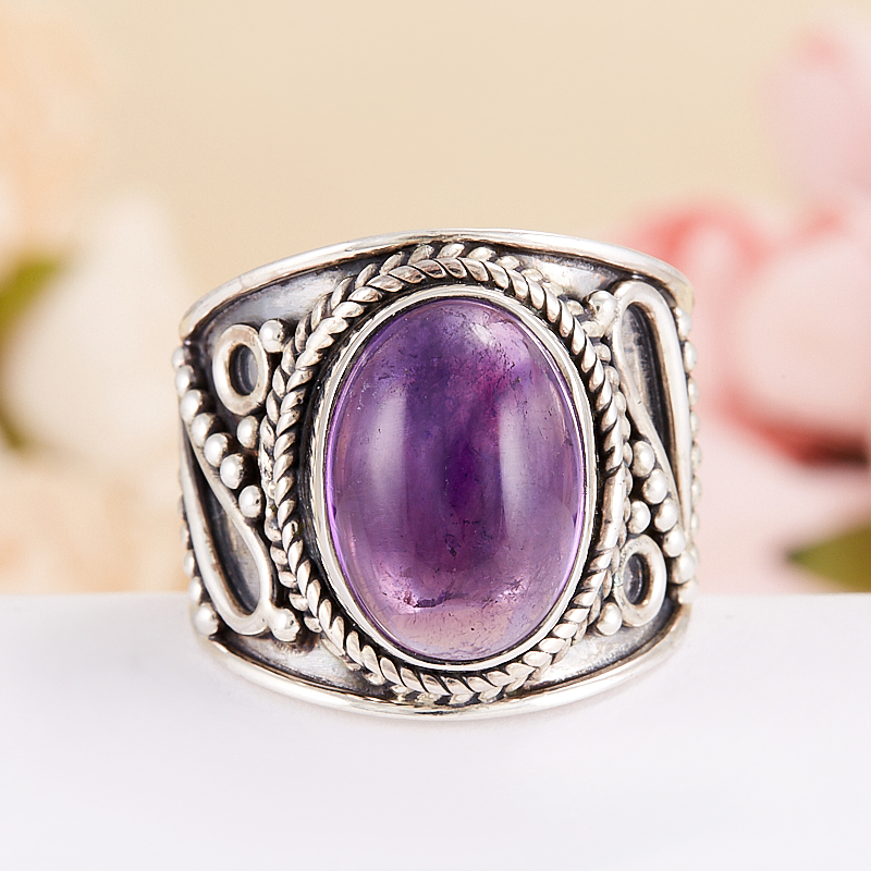 Кольцо аметист  (серебро 925 пр.) размер 17 кольцо хризопраз серебро 925 пр размер 17