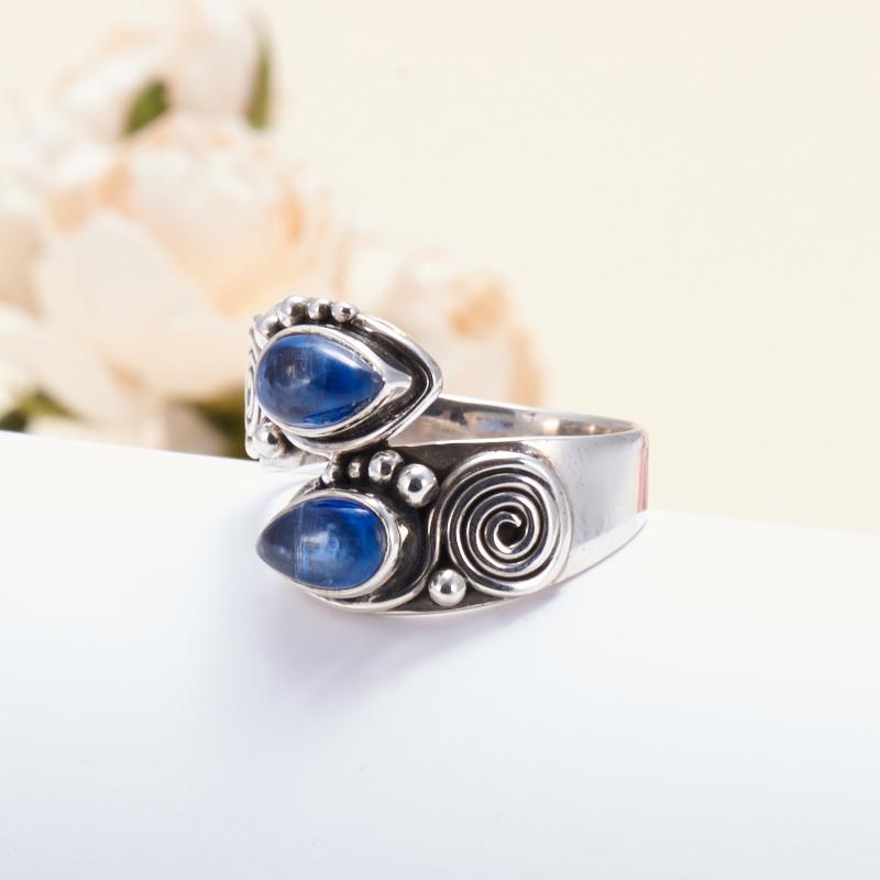 Кольцо кианит синий  (серебро 925 пр.) размер 19 кольцо персиянка кианит