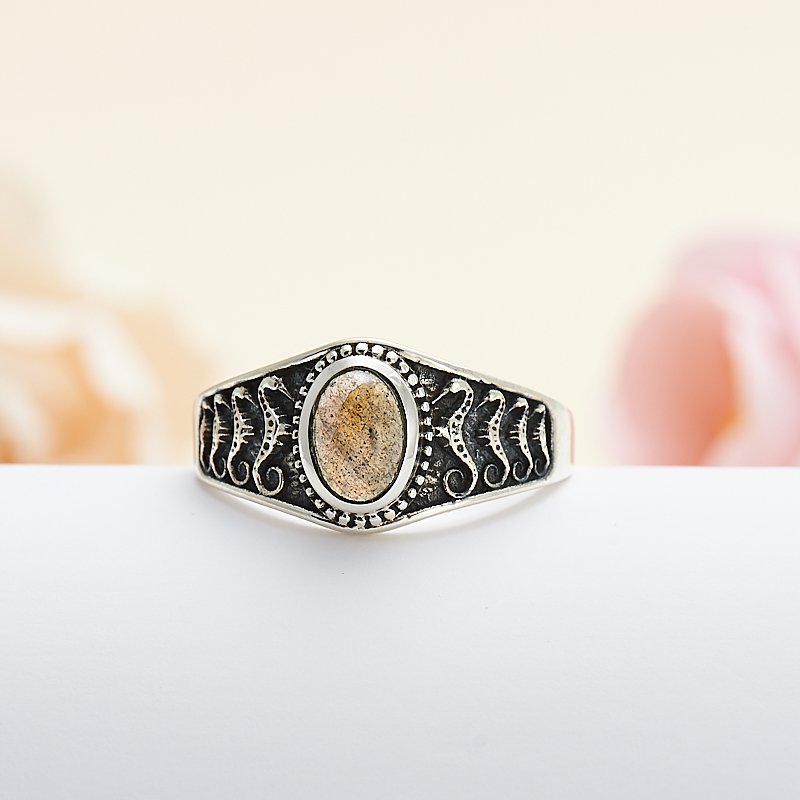 Кольцо лабрадор  (серебро 925 пр.) размер 18 кольцо авантюрин зеленый серебро 925 пр размер 18