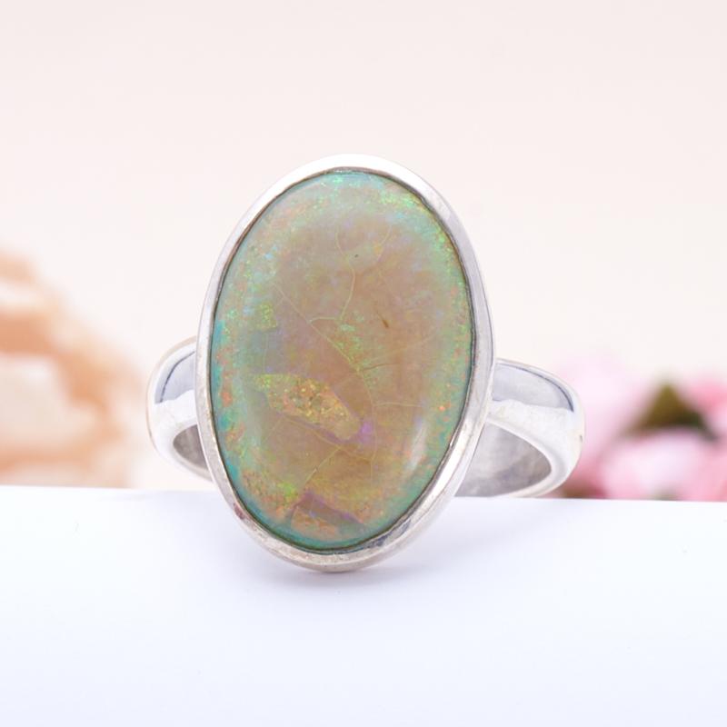 Кольцо опал благородный  (серебро 925 пр.) размер 18 кольцо авантюрин зеленый серебро 925 пр размер 18