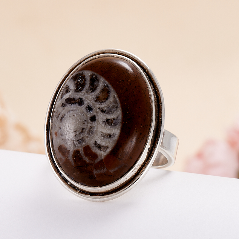 Кольцо окаменелость  (серебро 925 пр.) размер 18