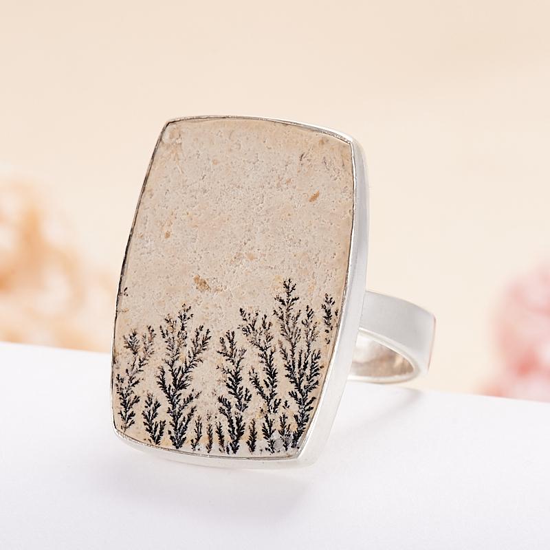 Кольцо яшма дендритовая  (серебро 925 пр.) размер 19,5