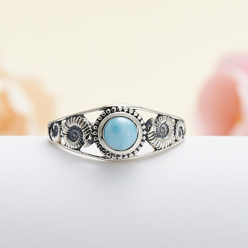 Кольцо ларимар нская Республика (серебро 925 пр.) размер 18 кольцо авантюрин зеленый серебро 925 пр размер 18