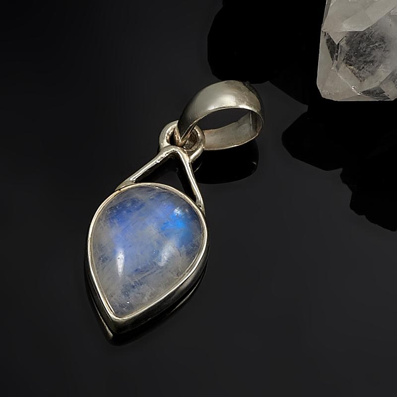 Кулон лунный камень  (серебро 925 пр.)