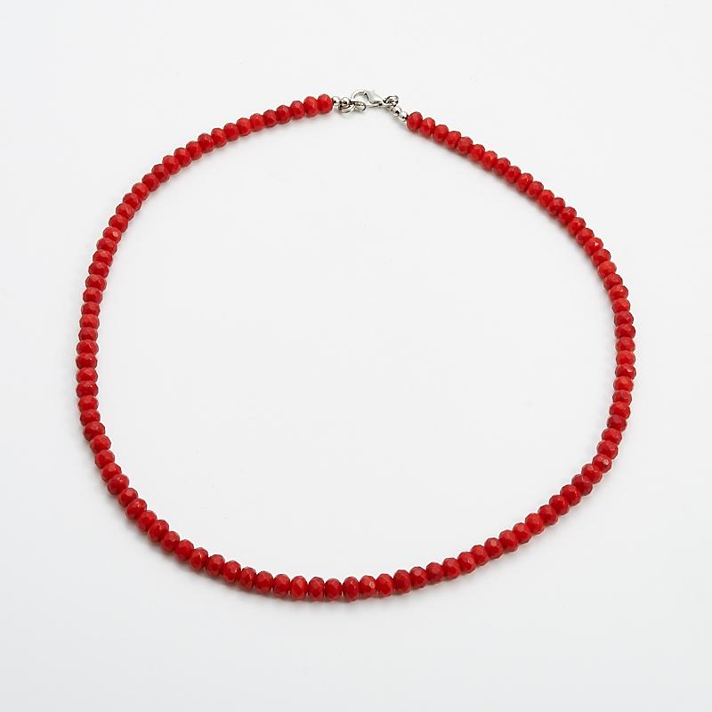 Бусы коралл красный  огранка 6 мм 55 см бусина коралл красный сплюснутый шар 5 5 6 мм огранка 1 шт