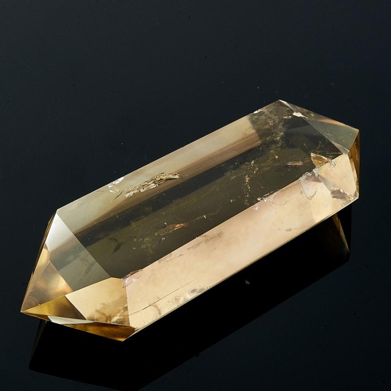 Двухголовый кристалл Цитрина с фантомом Раухтопаза Бразилия (ограненный)