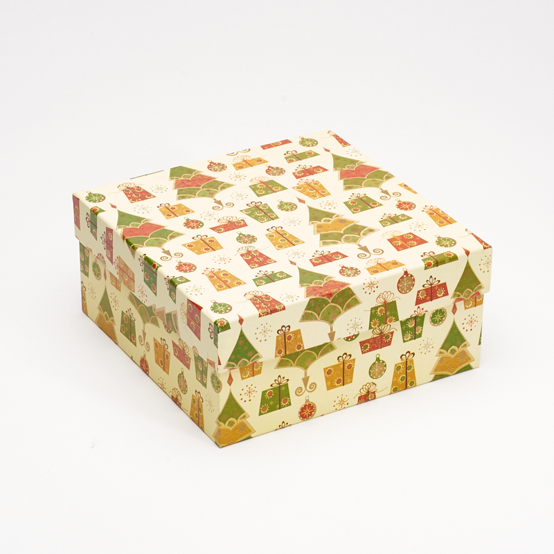 Подарочная упаковка универсальная 180х180х85 мм