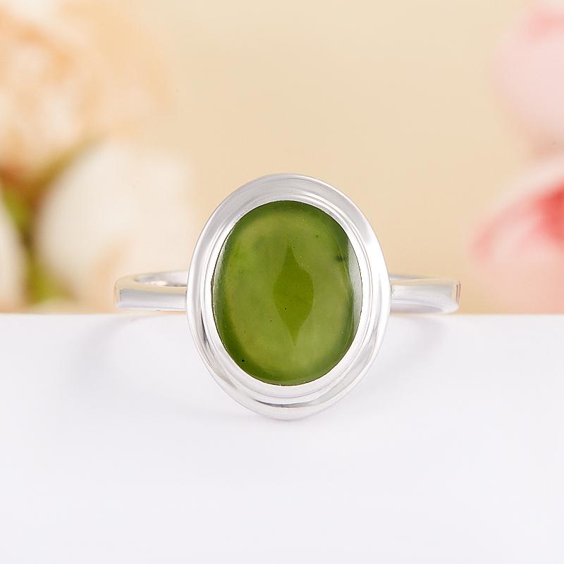 Кольцо нефрит зеленый  (серебро 925 пр.) размер 17 кольцо авантюрин зеленый серебро 925 пр размер 17