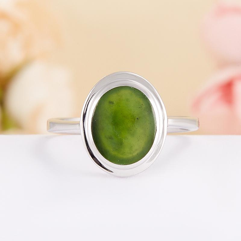 Кольцо нефрит зеленый  (серебро 925 пр.) размер 17,5 кольцо авантюрин зеленый серебро 925 пр размер 17 5