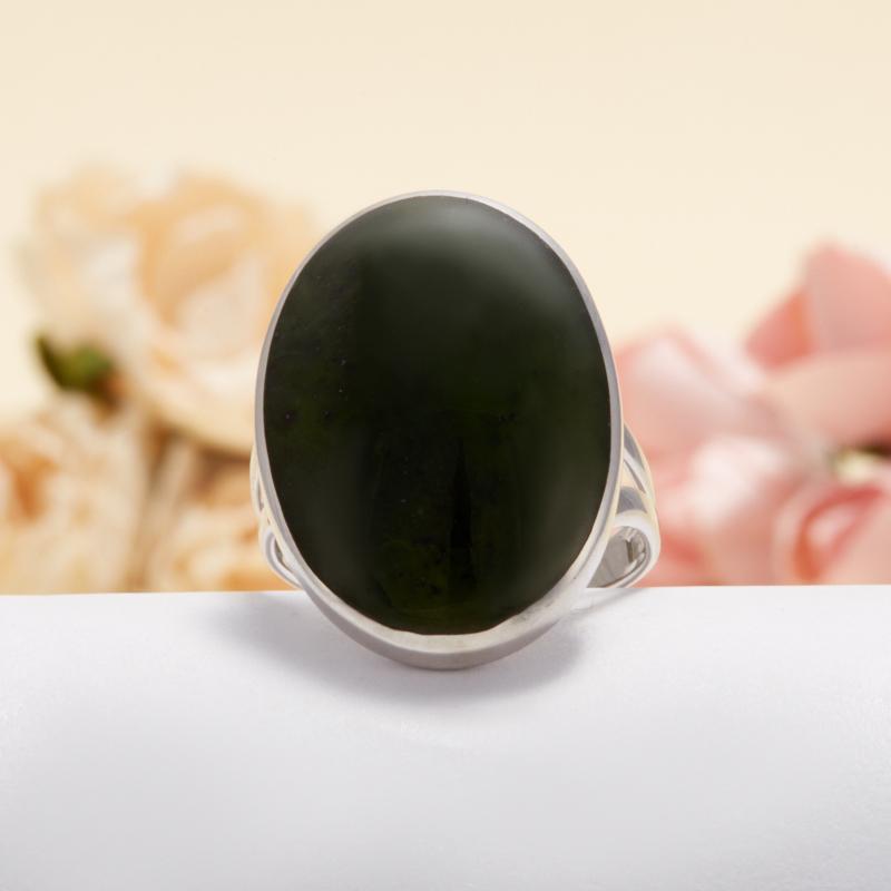 Кольцо нефрит зеленый  (серебро 925 пр.) размер 18,5 кольцо авантюрин зеленый серебро 925 пр размер 18