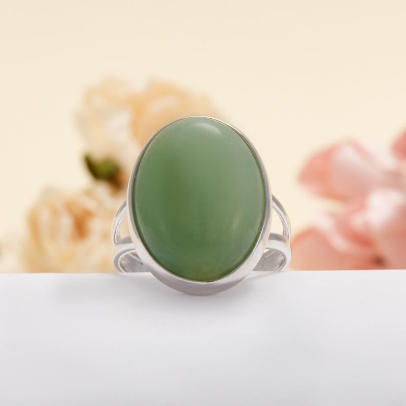 Кольцо авантюрин зеленый  (серебро 925 пр.) размер 18,5 кольцо авантюрин серебро 925 пр размер 21 5