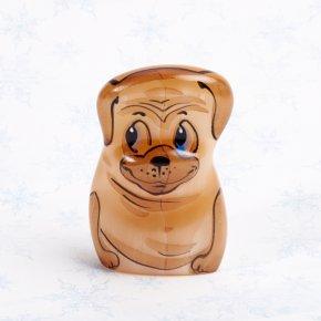 Собака Мопс малыш селенит Россия 5 см