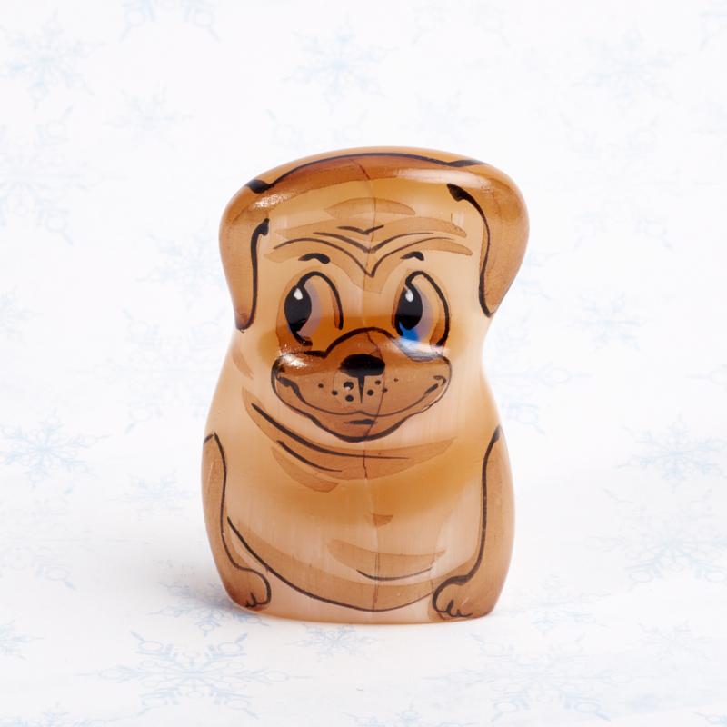 Собака селенит 5 см собака бульдог большой селенит 6 см
