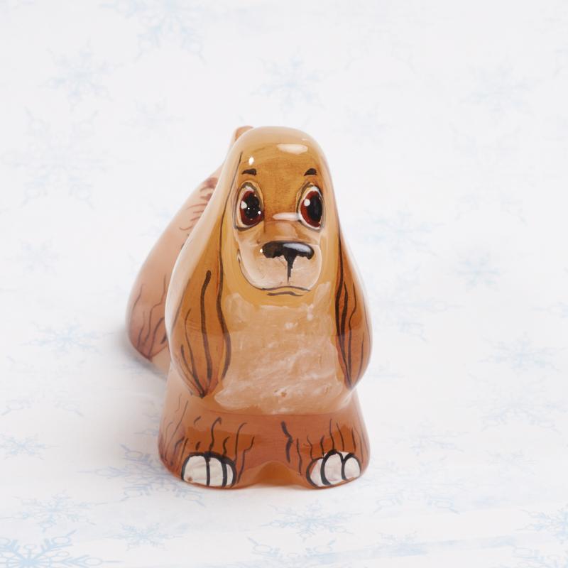 Собака Кокер Спаниель селенит 8 см д кэдди английский кокер спаниель