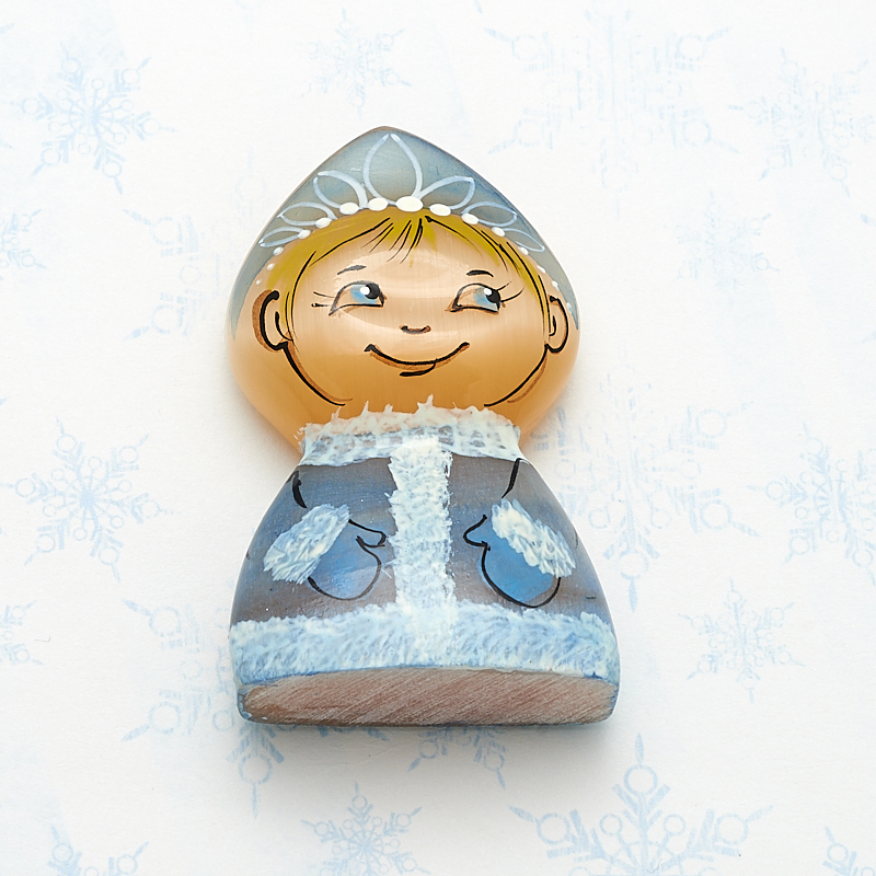 Снегурочка маленькая селенит  5,5 см статуэтка снегурочка селенит 7 см