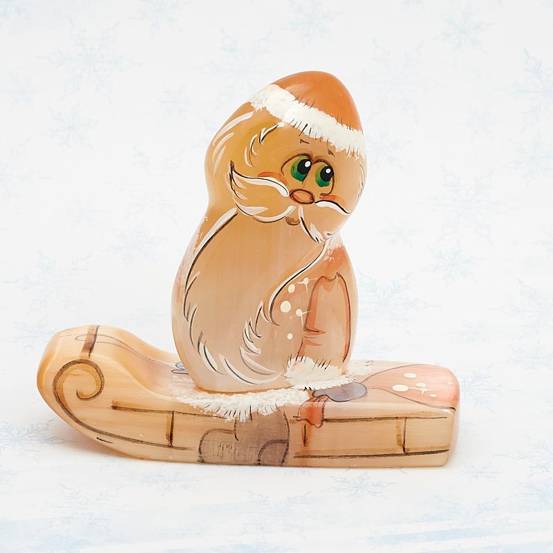 Дед Мороз на санках селенит  8 см